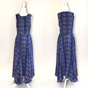 Prose & Poetry Swift Blue Flowy Maxi Dress Medium
